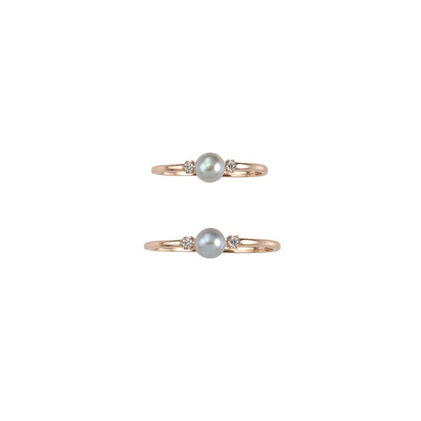 EVENING SHINE RING SET - ROSE GOLD