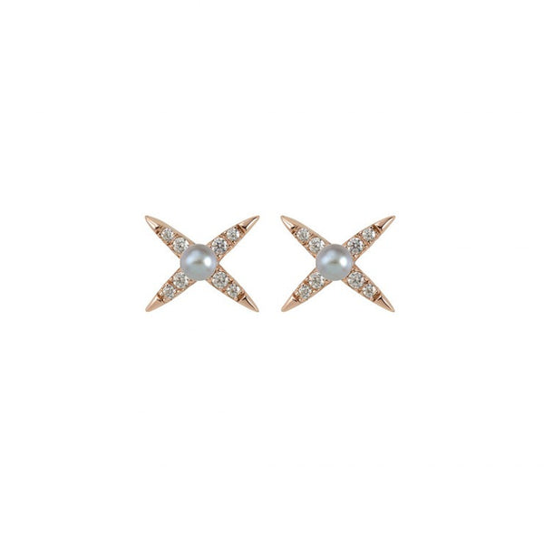 EVENING SHINE STUD EARRING - ROSE GOLD