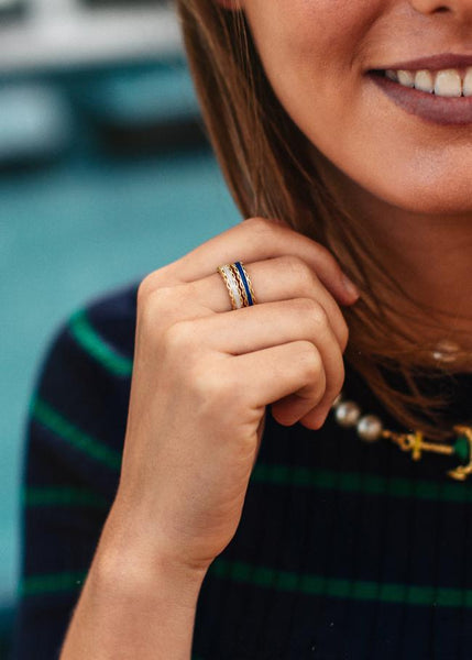 (PRE-ORDER) Scallop Ring Collection - Navy