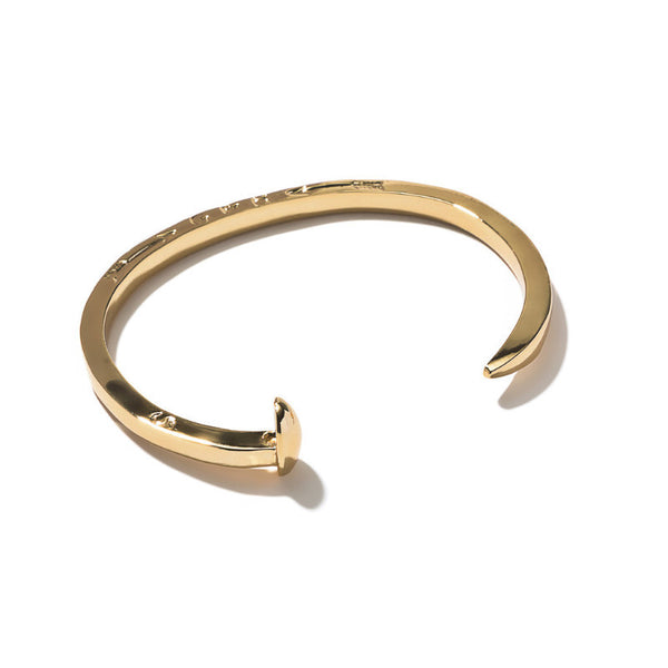 Skinny Railroad Spike Cuff - Gold