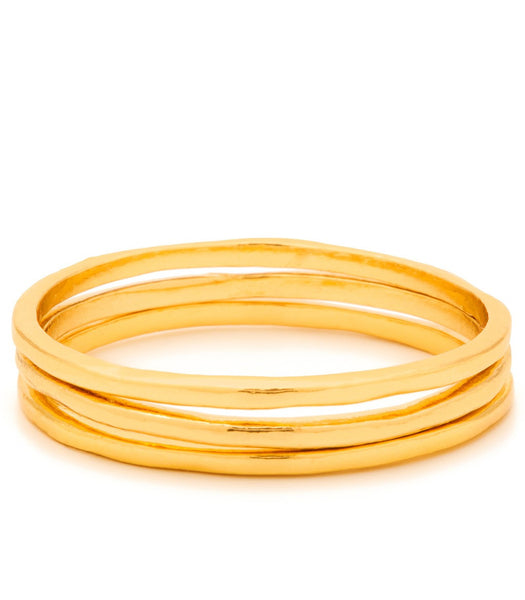 G Ring Set of 3 - Gold