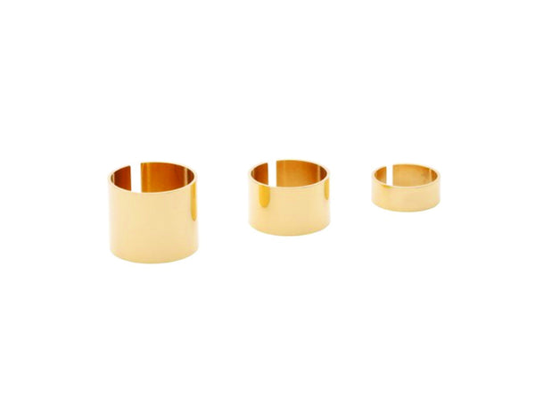 (PRE-ORDER) Geo Trio Rings - Yellow Gold