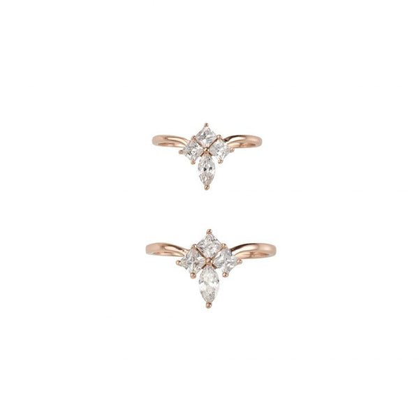 GOLD DUST NIGHTS ORNATE RING SET - ROSE GOLD
