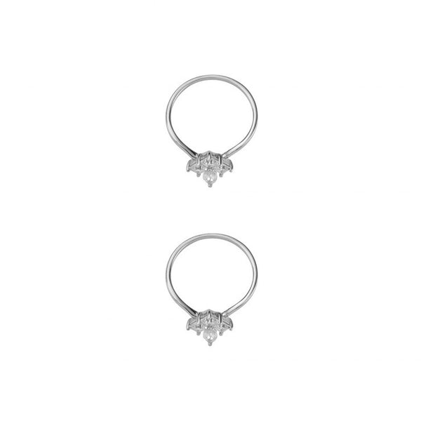 GOLD DUST NIGHTS ORNATE RING SET - SILVER