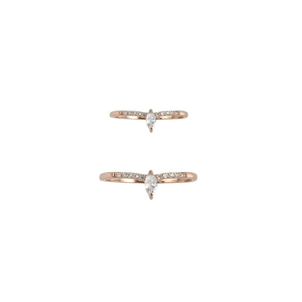 GOLD DUST NIGHTS RING SET - ROSE GOLD