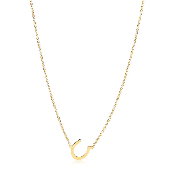 LUCKY CHARM HORSESHOE NECKLACE - YELLOW GOLD