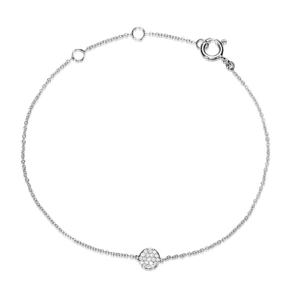 (PRE-ORDER) DIAMOND DREAMTIME DOT BRACELET WHITE GOLD