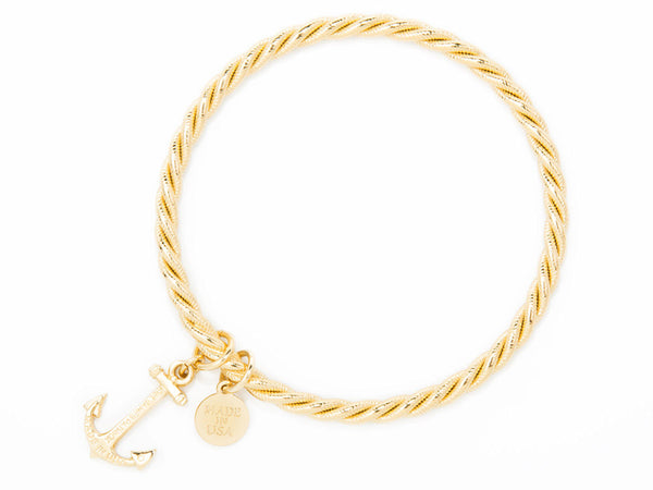 (PRE-ORDER) Pearl Collection - Gold Sailor Charm bracelet