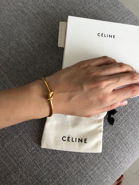 Celine Extra thin Knot bracelet in Rose Gold (Size M)