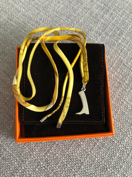 Hermes Tourbillon de Couleurs silk bracelet - Riding Boot