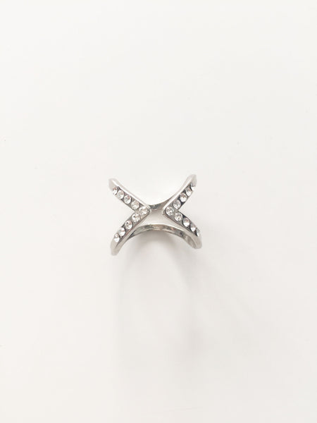 Double Open Ring - Silver