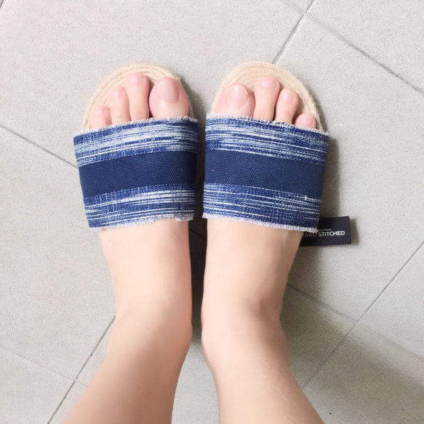Reese Slides - Denim Blue