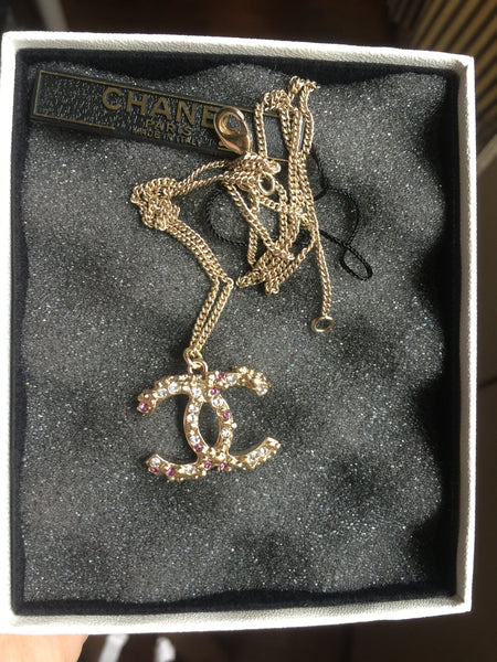 Chanel Necklace - Big Rare Light Gold CC