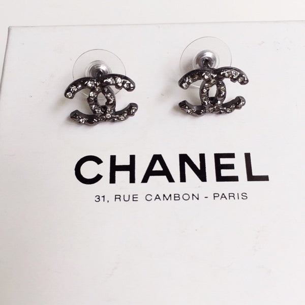 Chanel Earrings - Silver Gunmetal