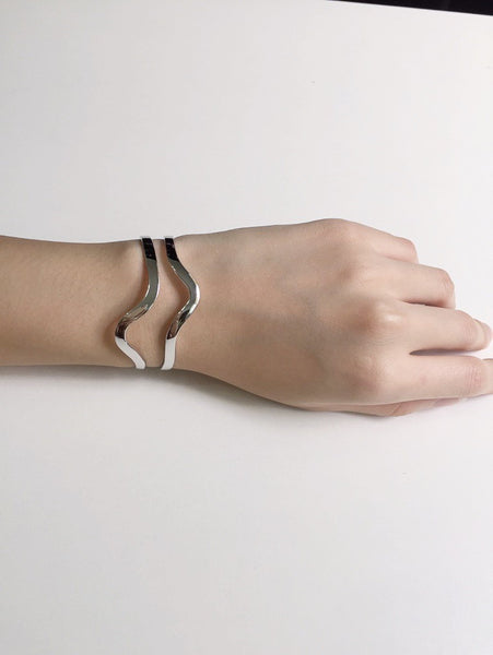 Elizabeth and James Marlowe Cuff - Silver
