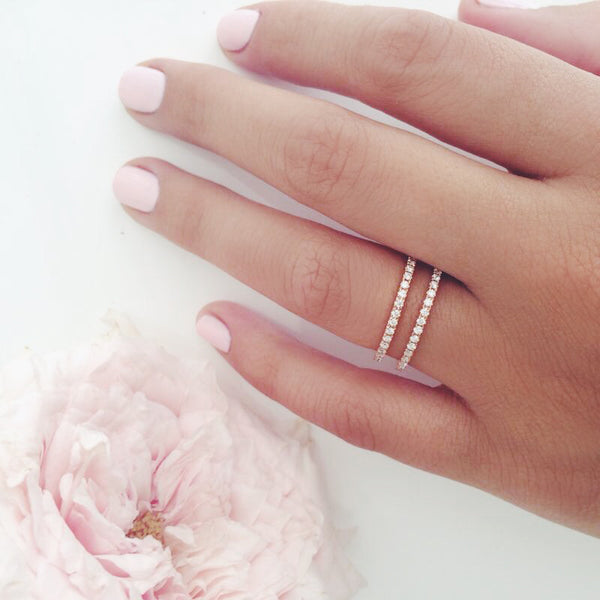 (PRE-ORDER) INFINI DIAMOND ETERNITY RING IN ROSE GOLD