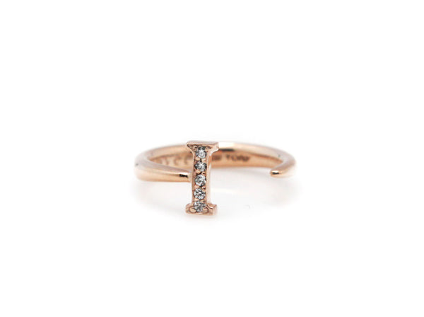 (PRE-ORDER) 'I' LETTER KNUCKLE OPEN RING