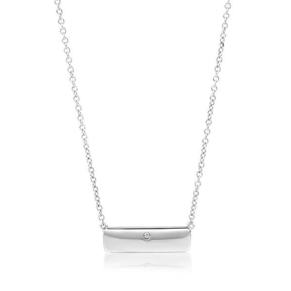 (PRE-ORDER) Diamond Sterling Silver Plate Necklace