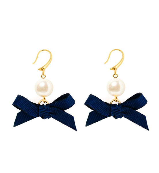 Bow Earring Collection - Jackie in Pearls