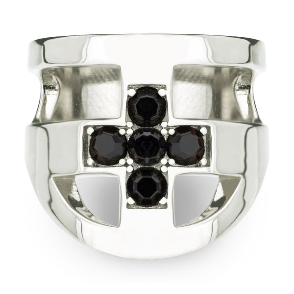 JOEY CROSS RING - SILVER