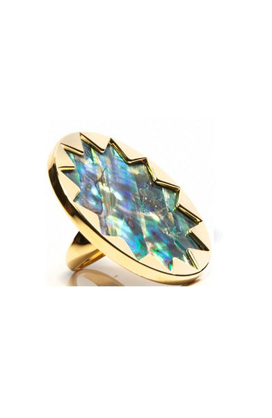 ABALONE LARGE COCKTAIL SUNBURST RING