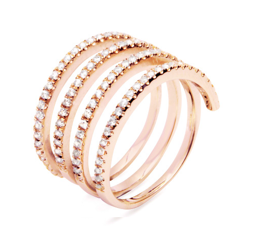 LAYERED ETERNITY RING - ROSE GOLD