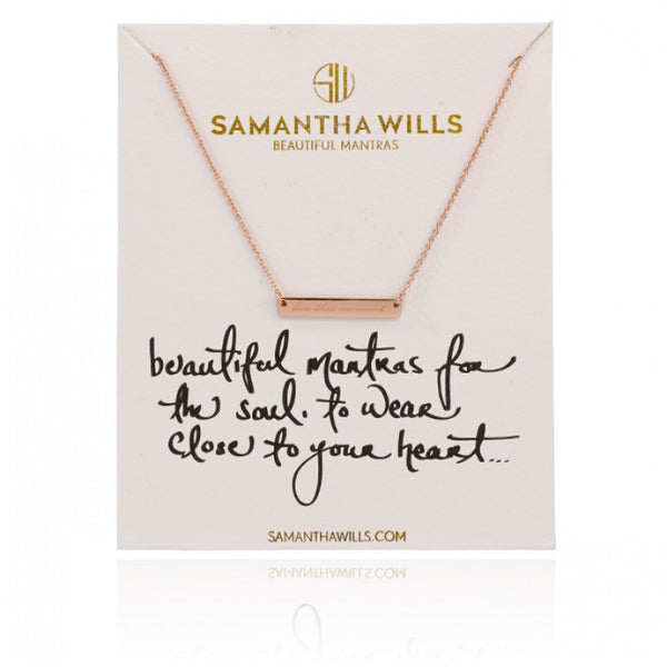 LIVE THIS MOMENT NECKLACE - ROSE GOLD