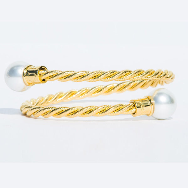 (PRE-ORDER) Pearl Collection - Merle Beach Gold Cuff