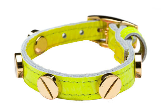 NEON YELLOW GOLD SCREW BRACELET
