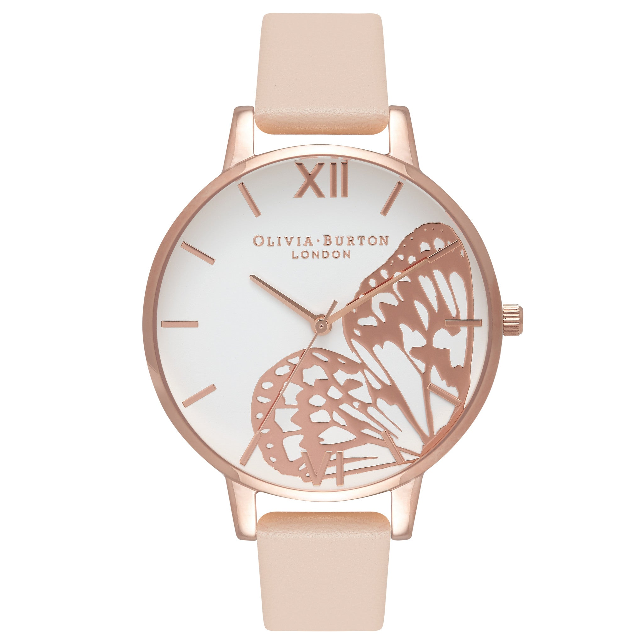 leather layering watches gold and peach pin rose