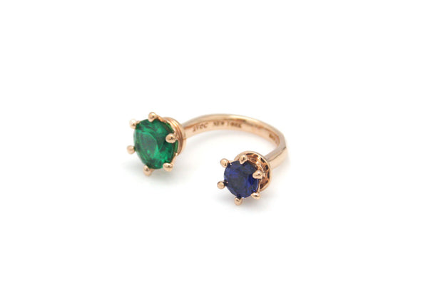 (PRE-ORDER) OPEN DOUBLE CROWN STONE RING