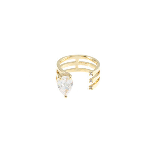 TEAR DROP SOLITAIRE RING