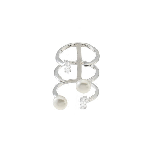SUMMER PEARLY CAGE RING