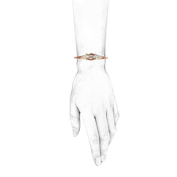 PARISIAN DUSK GRAND CUFF - WHITE HOWLITE