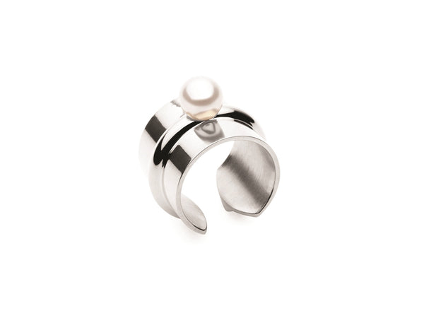(PRE-ORDER) Pearl Bound Ring - Silver