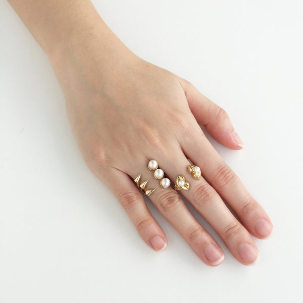VINCE TRIO SPIKE RING
