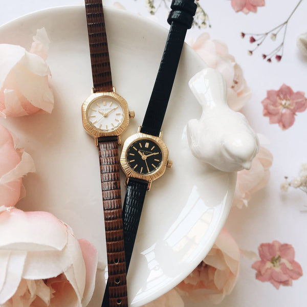 MINI ANTIQUES - WHITE DIAL AND GOLD