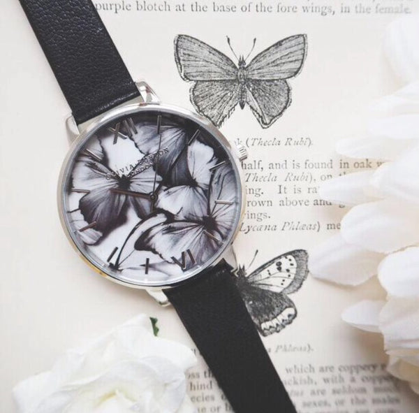 WOODLAND BUTTERFLIES BLACK AND SILVER