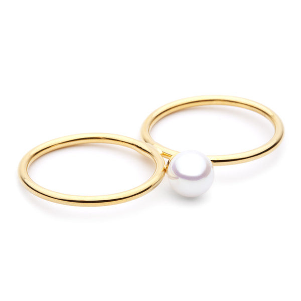 (PRE-ORDER) Double Pearl Ring
