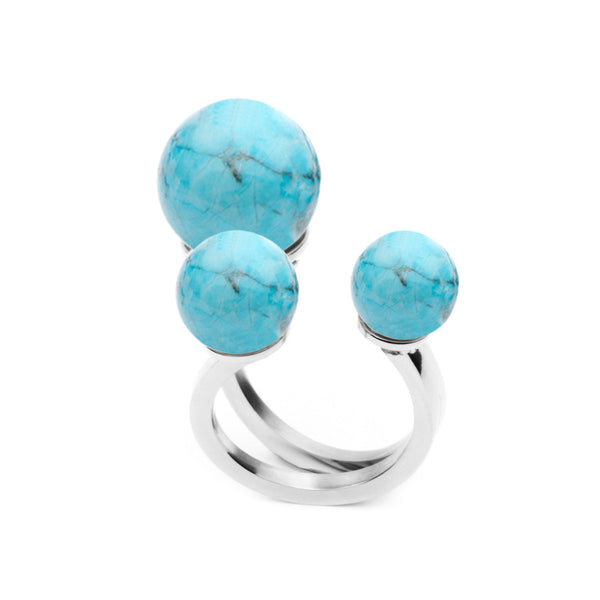 (PRE-ORDER) Chloe Ring - Blue Turquoise Stone