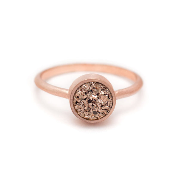 Kristine Lily Jewelry - Rose Gold Druzy Ring in Rose Gold