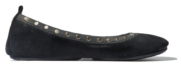 Samara - Black Soft Suede Stud (US 6)