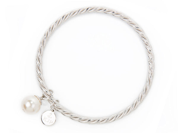 Pearl Collection - Silver Oyster bracelet