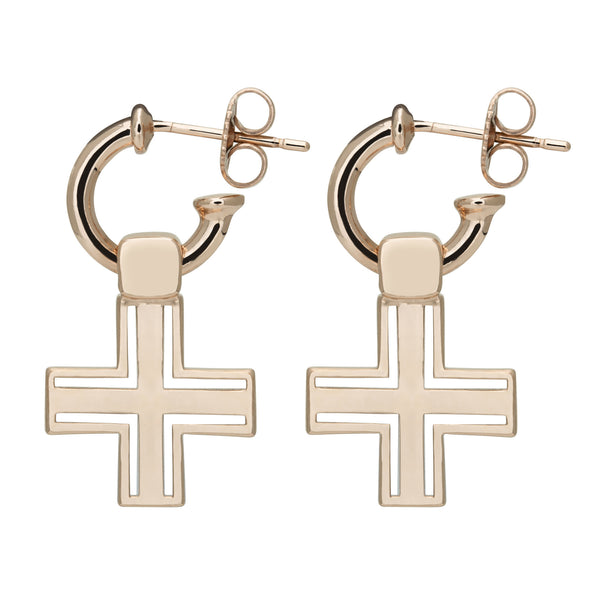 (PRE-ORDER) SIOUX CROSS EARRING - ROSE GOLD
