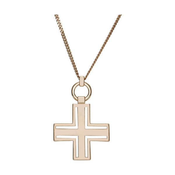 (PRE-ORDER) SIOUXSIE CROSS NECKLACE - ROSE GOLD
