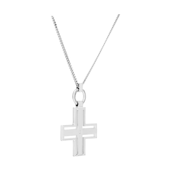 (PRE-ORDER) SIOUXSIE CROSS NECKLACE - SILVER