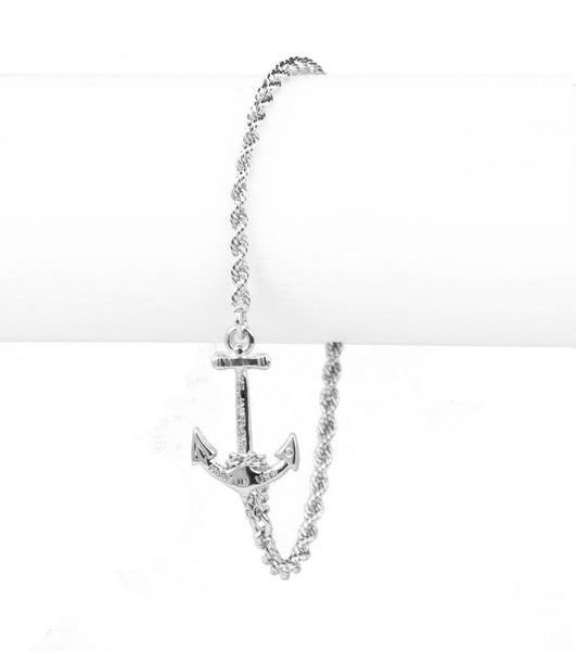 Castaway Collection - Skinny Silver Bracelet
