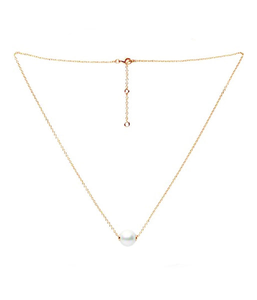 (PRE-ORDER) Pearl Solo Necklace - Gold