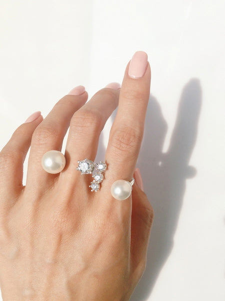 (PRE-ORDER) STELLA CLEAR STONE RING