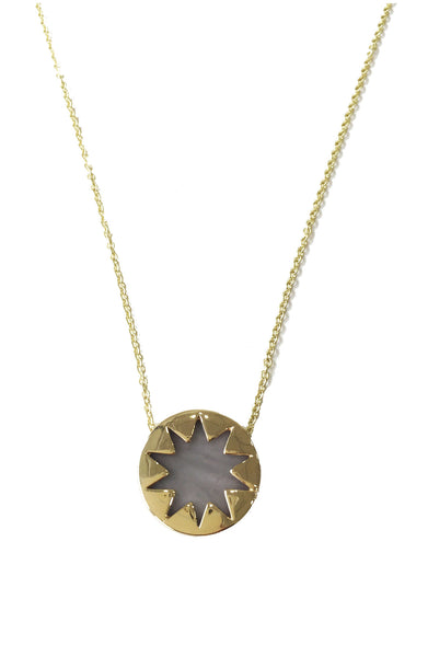 HOWLITE MINI SUNBURST PENDANT NECKLACE